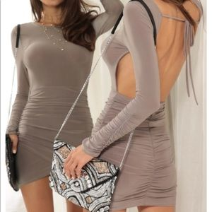 Hailey Party Dress In Taupe